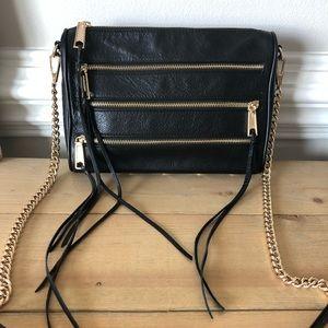 Rebecca Minkoff Black Pebbled Leather Crossbody